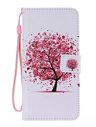 cheap -Case For Apple iPhone X iPhone 8 iPhone 8 Plus iPhone 6 iPhone 6 Plus Card Holder Wallet with Stand Flip Pattern Full Body Cases Tree Hard
