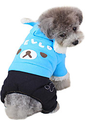 cheap -Dog Hoodie Jumpsuit Dog Clothes Cartoon Animal Purple Green Blue Cotton Down Costume For Pets Men's Women's Fashion