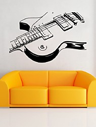 New Creative Personality Living Room Bedroom Decorated Guitar Music Note Removable Wall Sticker Home Decor