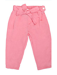 abordables -Pantalones Chica deAlgodón-Todas las Temporadas-Rosa