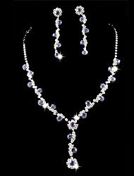 cheap -Wedding Bridal Bridesmaid Crystal Necklace Earrings Jewelry Set