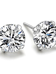 cheap -925 Silver Sterling Silver Jewelry Earrings Sample Zircon Stud Earring 1Pair