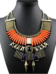 cheap -Women's Statement Necklace - Statement, Vintage, European Orange, Royal Blue Necklace For Special Occasion, Birthday, Gift