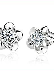 billige -Dame Stangøreringe - Perle, Sølv, Imiteret Perle Hvid Til Bryllup Fest Daglig