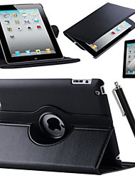 billige -Etui Til Apple iPad Mini 3/2/1 iPad 4/3/2 iPad Air 2 iPad Air Med stativ Origami 360° Rotation Fuldt etui Helfarve Hårdt PU Læder for