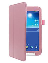 Недорогие -Кейс для Назначение SSamsung Galaxy Чехол планшетный случаи Сплошной цвет Твердый Кожа PU для Tab 3 Lite