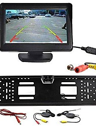 "cheap -Wireless Car Rear View Kit 4.3"" TFT LCD Monitor + Rear View Camera Universal EU/European License Plate Frame"