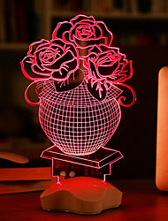 cheap -Visual 3D Ribbon Model Mood Atmosphere LED Decoration USB Table Lamp Colorful Gift Night Light(Assorted Color)