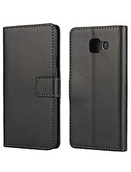 economico -Custodia Per Samsung Galaxy Samsung Galaxy Custodia Porta-carte di credito / Con supporto / Con chiusura magnetica Integrale Tinta unita pelle sintetica per A3(2016)