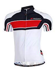 Nuckily Cycling Jersey Men's Short Sleeves Bike Jersey Top Quick Dry Anatomic Design Moisture Permeability Front Zipper Water Bottle