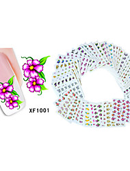 50sheets  Mixed Flower 50Styles Water Transfer Sticker Nail Art Beautiful DIY XF1001-1050