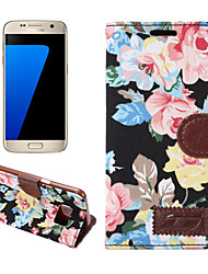 cheap -For Samsung Galaxy S7 Edge S6 Edge Plus Case Cover Flowers PU Leather Mobile Phone Holster for S5 S4 S4 Active S4 Mini S5 Mini S3