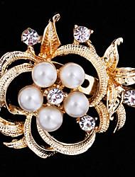 povoljno -Žene Slatko Zabava Posao Ležerne prilike Moda Biseri Kubični Zirconia Legura Zlato Pink Jewelry Za Vjenčanje Party Special Occasion