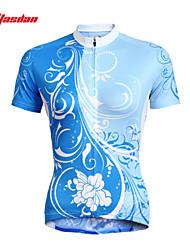 Недорогие -TASDAN Жен. С короткими рукавами Велокофты Цветочные / ботанический Большие размеры Велоспорт Джерси Верхняя часть Наборы одежды, Дышащий Быстровысыхающий Ультрафиолетовая устойчивость 100% полиэстер