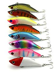 """8 Stück Angelköder Vibration Zufällige Farben g/Unze,80 mm/3-1/4"""" Zoll,Fester KunststoffSeefischerei Fischen im Süßwasser Spinnfischen"""