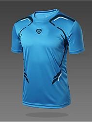 Homme Tee-shirt de Randonnée Séchage rapide Résistant aux ultraviolets Respirable Doux Matériaux Légers Anti-transpiration Douceur