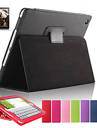 cheap -Magnetic Auto Wake Up Sleep Flip Litchi Leather Case For ipad Air Cover Tablet With Free Screen Protector+ Pen