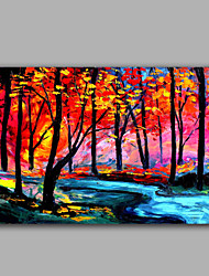 Bright Color Forest Landscape Oil Painting Handmade Wish Popular Design