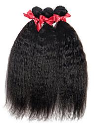 EVET Unprocessed Brazilian 100% Real Virgin Human Hair Weave Kinky Straight Extensions 3 Bundles