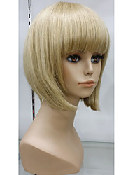 Недорогие -изысканный 100% человеческий волос парик шапки естественно бесклеевой крышка парик волосы короткие светлые парики