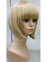 Exquisite 100% Human Hair Wig Capless Natural glueless cap wig Hair Short Blonde Wig