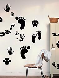 Feet Footprint Removable Wall Sticker Vinyl Decal Floor Art Home Decor