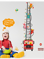 cheap -MJ8020 Cartoon Fire Truck Fireman Height Stickers Children's Room Backdrop Stickers Removable Wall Sticker Videos
