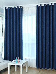 cheap -Blackout Curtains Drapes Kids Room Solid Colored Linen / Polyester Blend Jacquard