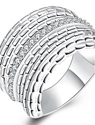 Ringe Party / Alltag / Normal Schmuck versilbert Damen Statementringe 1 Stück,8 / 9 / 10 / 8½ Silber