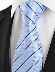 cheap -New Striped Blue JACQUARD Men's Tie Necktie Wedding Party Holiday Gift #1014