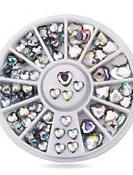 preiswerte --Finger-Nail Schmuck-Acryl-1wheel heart AB nail decorationsStück -6cm wheelcm