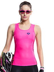 cheap -SANTIC Women's Sleeveless Sports Tank Top - Pink Bike Vest / Gilet / T-shirt / Jersey, Quick Dry, Ultraviolet Resistant, Breathable