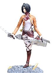 economico -Figure Anime Azione Ispirato da Attack on Titan Mikasa Ackermann 24 CM Giocattoli di modello Bambola giocattolo
