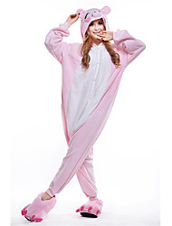 Kigurumi Pajamas New Cosplay® Piggy/Pig Leotard/Onesie Festival/Holiday Animal Sleepwear Halloween Pink Patchwork Polar Fleece Kigurumi
