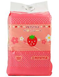 abordables -Chat Chien Nettoyage Couches Serviette Portable Jaune Rose