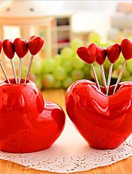 estilo de amor criativo lanche forquilha fruta garfo enfeite decoração 5 garfos
