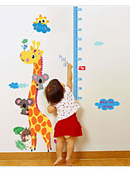 SK9002  Cartoon animal Measuring Height Wall Stickers Removable Wallpaper Children Kid Room Living Bedroom