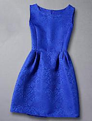 Vestito Girl Casual Rayon Estate / Primavera / Autunno Nero / Blu / Rosa / Rosso / Bianco