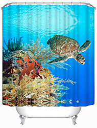 "cheap -Modern Turtle Polyester Shower Curtains W71""×L71"""