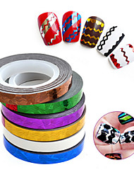 cheap -1 pcs NEW 3d Wave Design Nail Stickers Stripe DIY Striping Tape Line Nail Art Tips Decoration