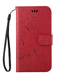 economico -Custodia Per Samsung Galaxy Samsung Galaxy Custodia A portafoglio / Porta-carte di credito / Con supporto Integrale Farfalla pelle sintetica per Trend Lite / On 7 / On 5