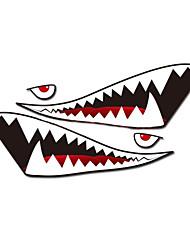 """baratos -um tamanho 60 """"* 20"""" cool dentes na boca de tubarão ho decalques do corpo do carro auto etiqueta reflexiva (1 par)"""