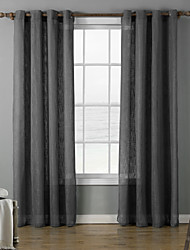 cheap -Grommet Top Two Panels Curtain Modern , Print Solid Living Room Polyester Material Curtains Drapes Home Decoration