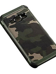 cheap -Camouflage PU leather Shockproof  soft TPU Silicone case for Samsung Galaxy J1/J2/J5/J7