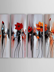 cheap -Oil Painting Hand Painted - Still Life Modern Canvas Four Panels