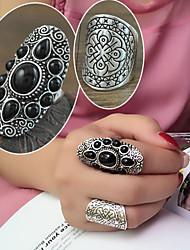 preiswerte -Damen Legierung Ring Strass Legierung 2 Stück klassischen weiblichen Stil