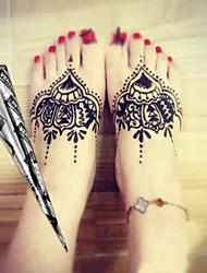 Halloween 12 * Black* Herbal Henna Cones Temporary Tattoo kit Body Art Mehandi Ink Hina