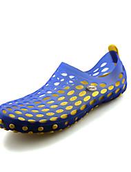 Masculino Sandálias Conforto Buraco Shoes Silicone Primavera Verão Outono Casual Água Caminhada Conforto Buraco Shoes RasteiroAmarelo
