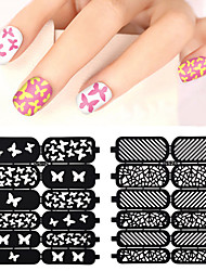 cheap -1pcs Diecut Manicure Stencil 3D Nail Acrylic Molds Nail Stamping Template Daily Flower Fashion High Quality