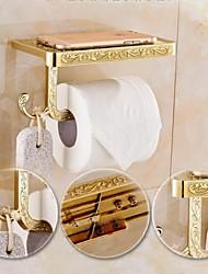 economico -Porta rotolo di carta igienica / Ottone antico Contemporaneo